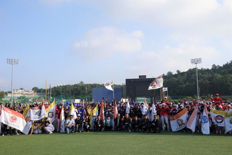 2019 제9회 익산시장기 전국여자야구대회 개막식 단체사진